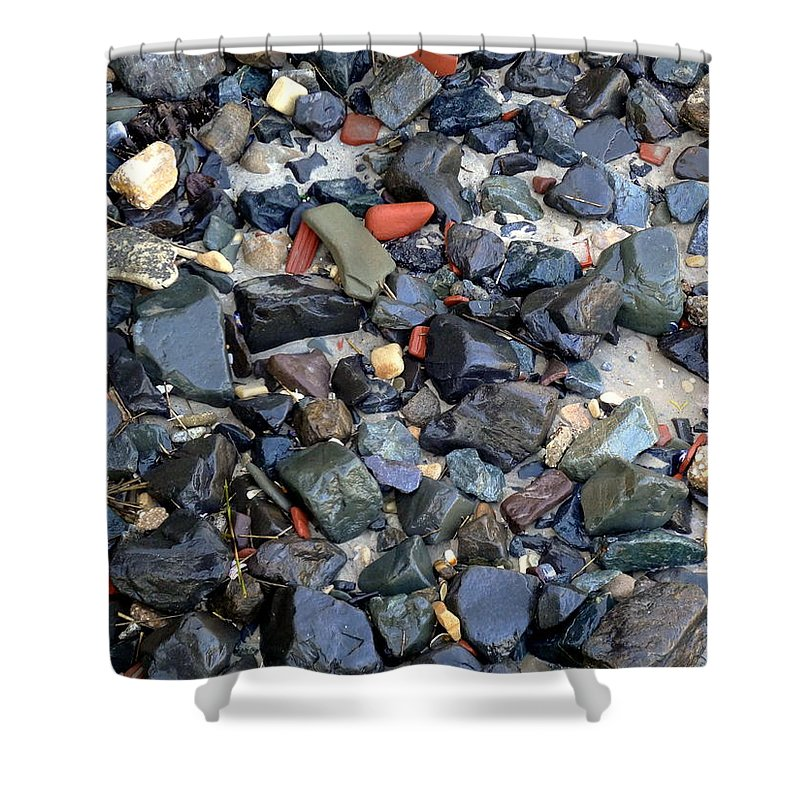 Rocks Shower Curtain featuring the photograph Rocks And Stones by Deborah Crew-Johnson