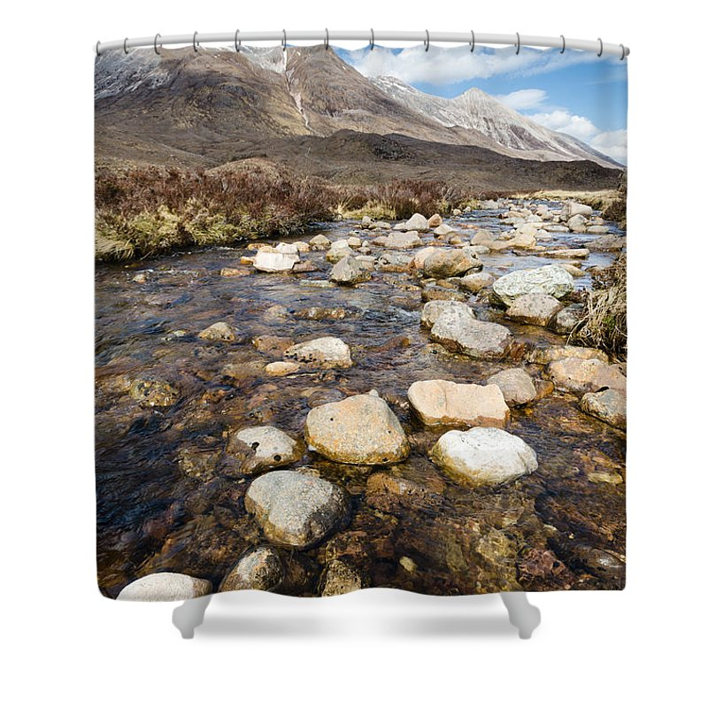 Beck Shower Curtain featuring the photograph Rocky Stream From Beinn Eighe by David Head