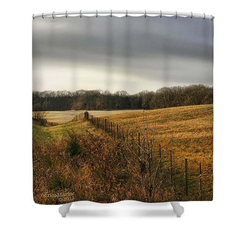 Tn Shower Curtain featuring the photograph Rolling Field by Ericamaxine Price