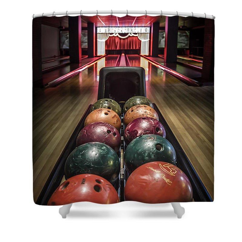 Bowling Ball Shower Curtains