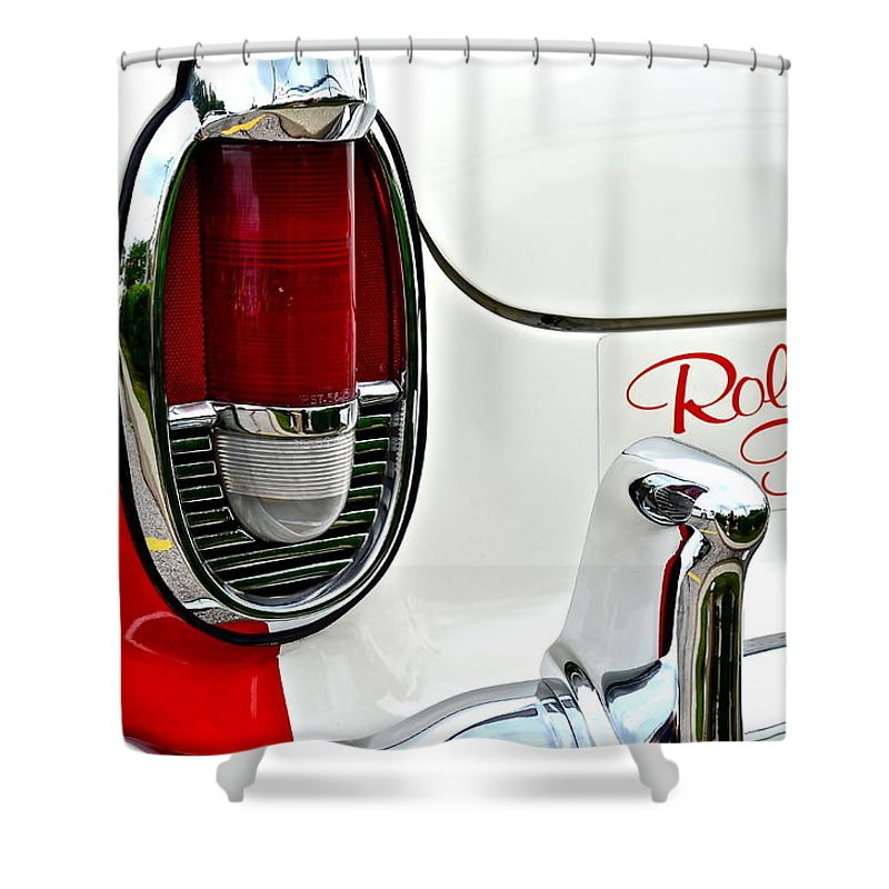 Fifty Shower Curtain featuring the photograph Rolling Thunder by Frozen in Time Fine Art Photography