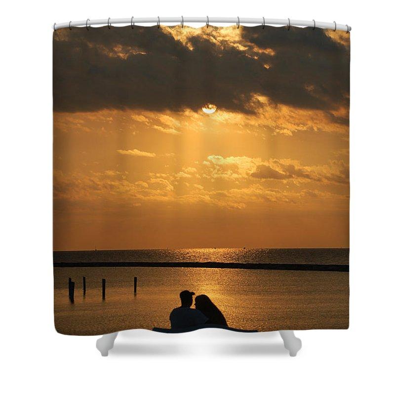 Romance Shower Curtain featuring the photograph Romantic Sunrise by Leticia Latocki