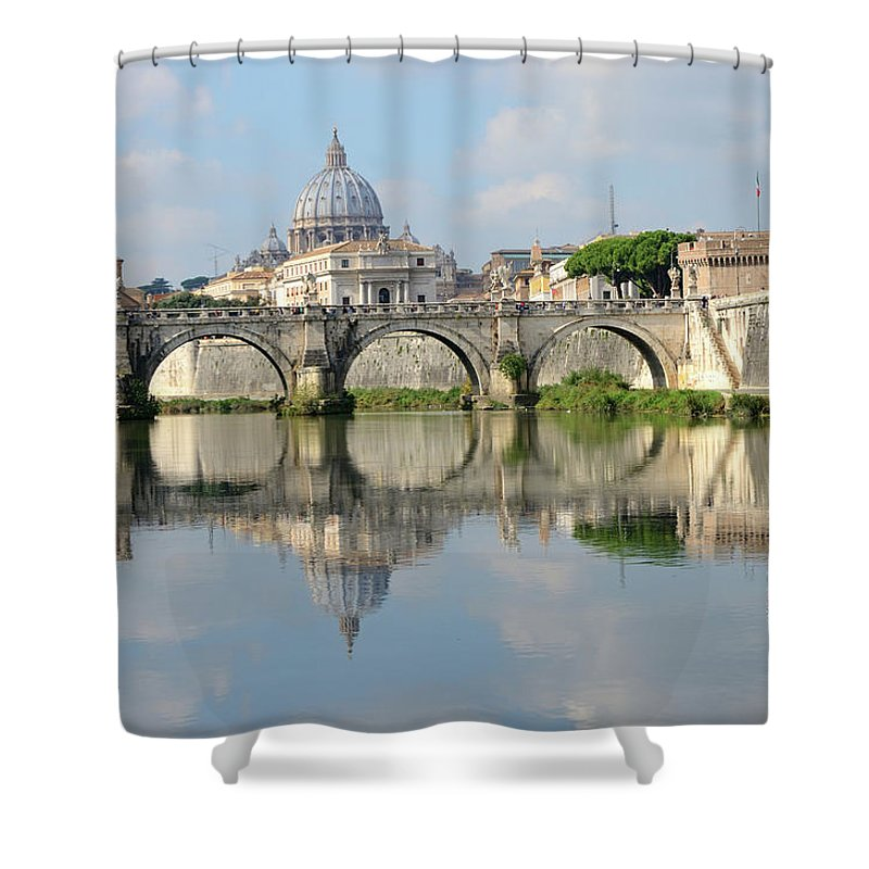 Arch Shower Curtain featuring the photograph Rome by Madzia71