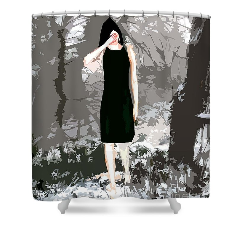 Snow Shower Curtain featuring the painting Romeo Romeo by Patrick J Murphy