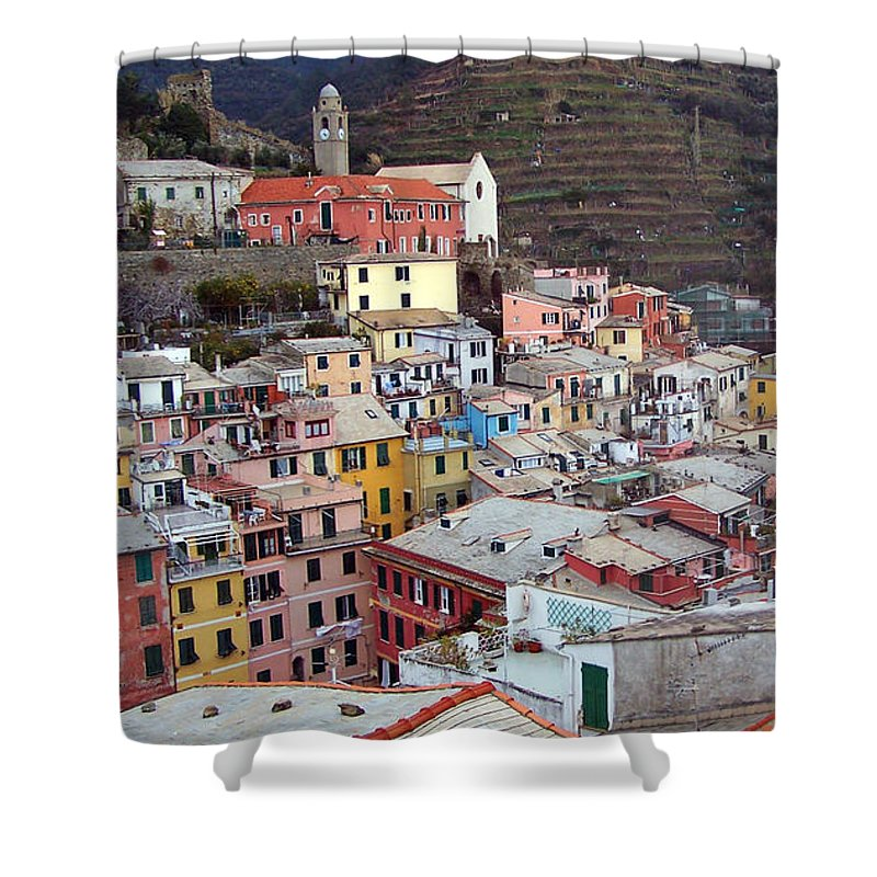 Cities Shower Curtain featuring the photograph Rooftop View by Jennifer Robin
