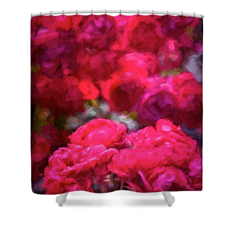 Floral Shower Curtain featuring the photograph Rose 134 by Pamela Cooper