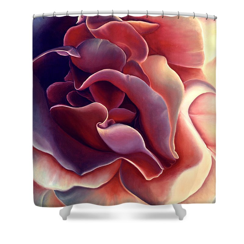 Rose Shower Curtain featuring the painting Rose by Anni Adkins