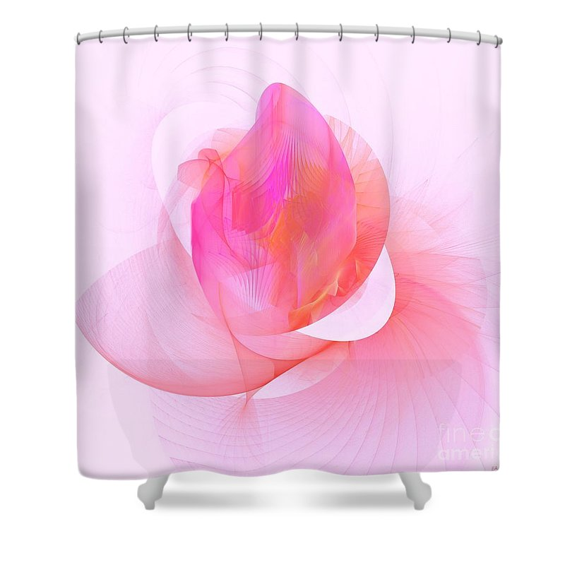 Rose Shower Curtain featuring the digital art Rose by Elizabeth McTaggart