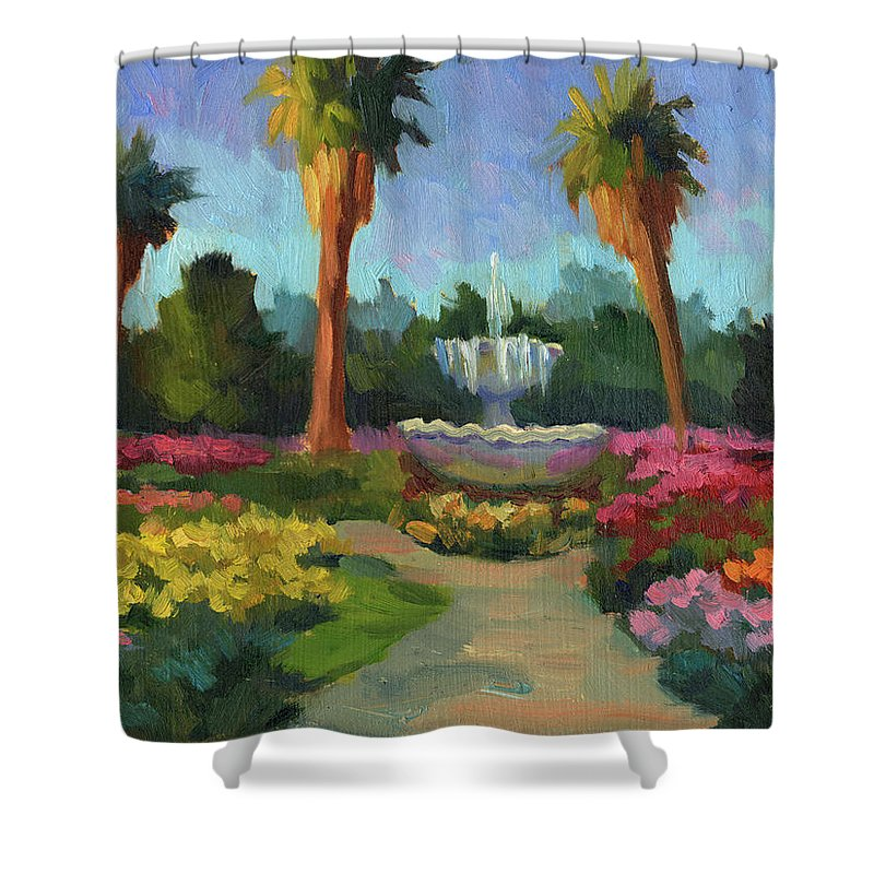Rose Garden Shower Curtain featuring the painting Rose Garden by Diane McClary