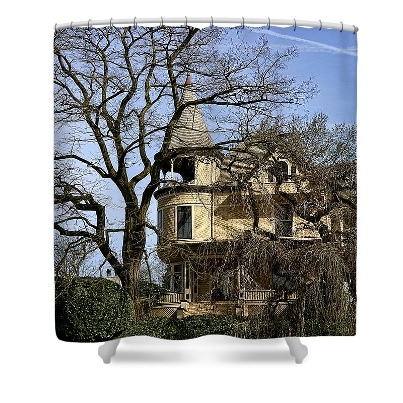 Ross Island Shower Curtain featuring the photograph Ross Island House by Wes and Dotty Weber