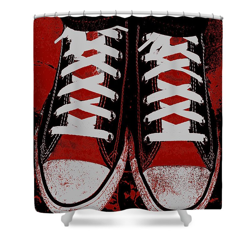 Rough And Red D Shower Curtain featuring the photograph Rough And Red D by Edward Smith