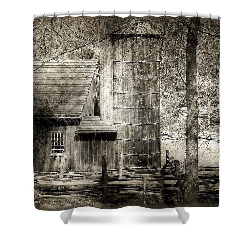 Abandoned Shower Curtain featuring the photograph Roughing It by RC DeWinter