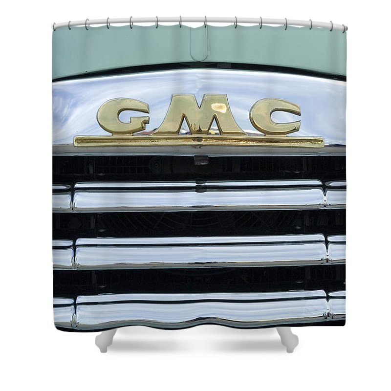 Gmc Shower Curtain featuring the photograph Route 66 Gmc by Bob Christopher