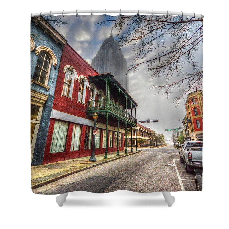 Alabama Shower Curtain featuring the digital art Royal Street Mist V2 by Michael Thomas