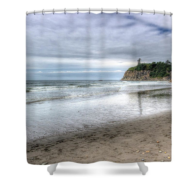Olympic Shower Curtain featuring the photograph Ruby Beach Summer by Heidi Smith