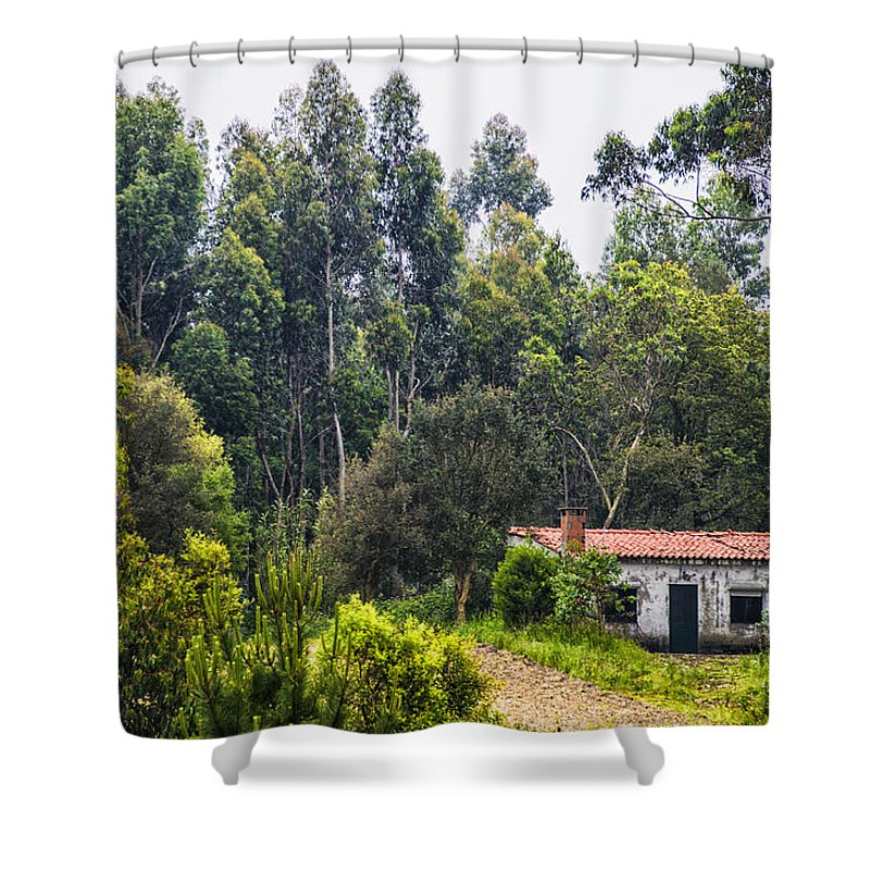 Rural Shower Curtain featuring the photograph Rural House by Paulo Goncalves
