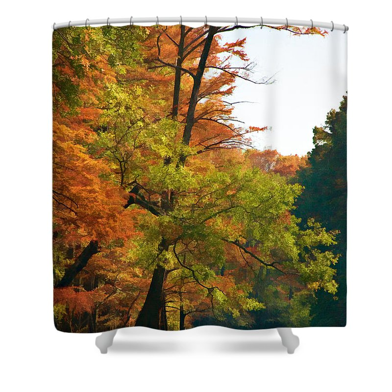 Rustic Autumn Shower Curtain for Sale by Lana Trussell