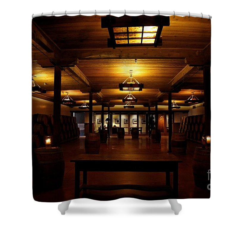 Rustic Wine Cellar Shower Curtain featuring the photograph Rustic Wine Cellar by Nina Prommer