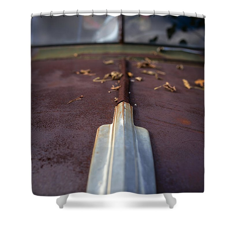 Automobile Shower Curtain featuring the photograph Rusty Old Car by Edward Fielding