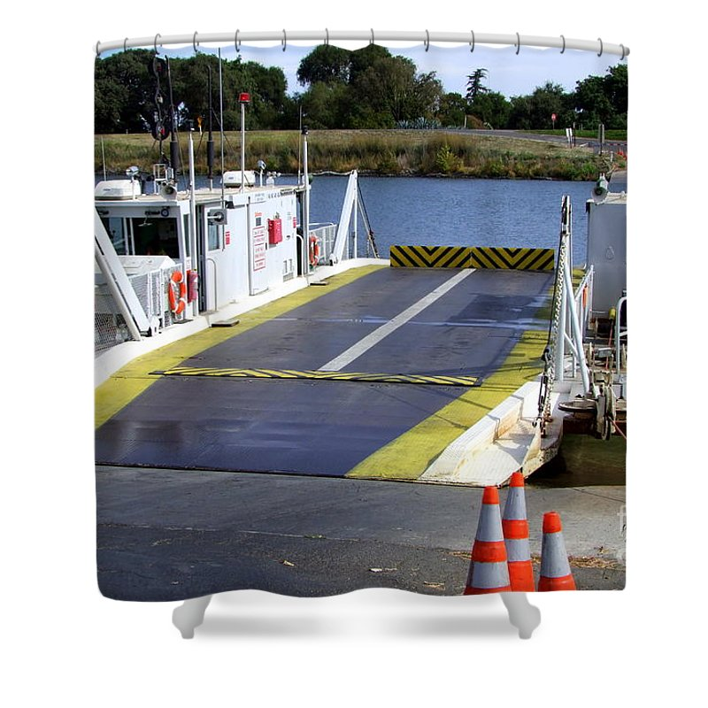 Mary Deal Shower Curtain featuring the photograph Ryer And Grand Island Ferry by Mary Deal