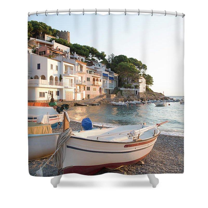Tranquility Shower Curtain featuring the photograph Sa Tuna, Costa Brava. Spain by Gary John Norman