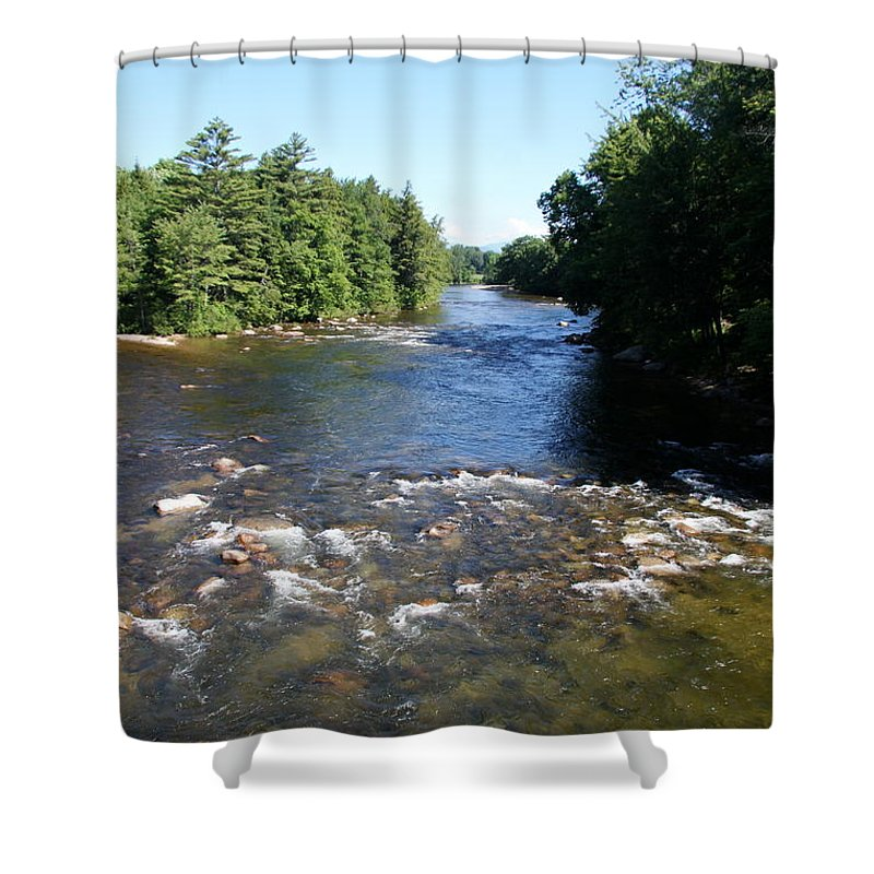 River Shower Curtain featuring the photograph Saco Riverscape Conway Nh by Christiane Schulze Art And Photography