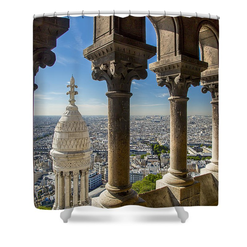 Architectural Shower Curtain featuring the photograph Sacre Coeur View by Brian Jannsen
