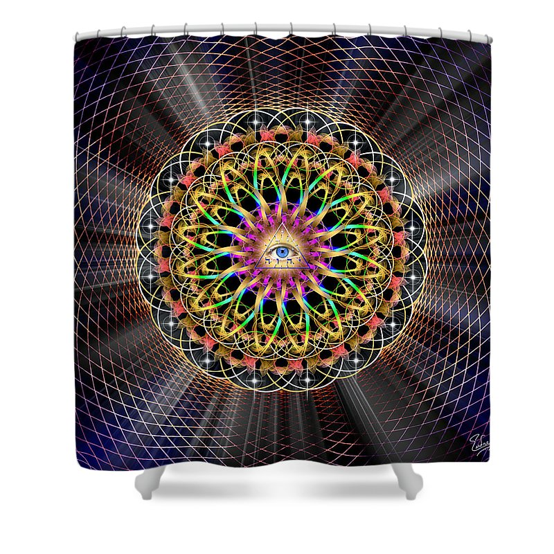 Endre Shower Curtain Featuring The Digital Art Sacred Geometry 333 By Balogh