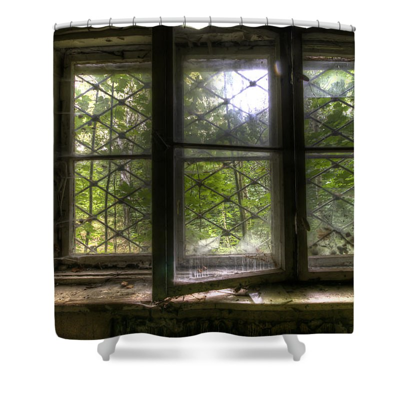Germany Shower Curtain featuring the digital art Safe Window by Nathan Wright