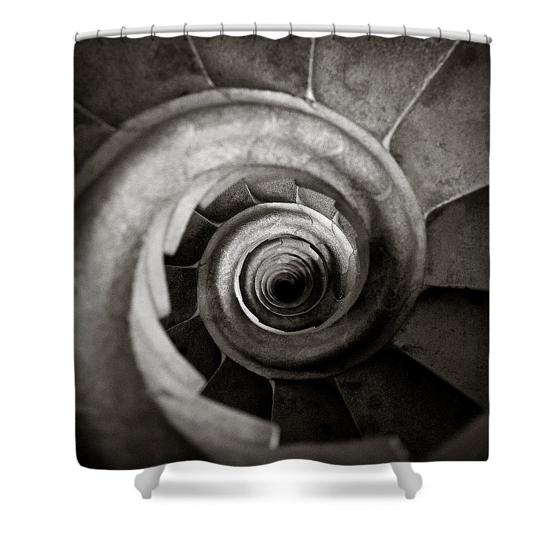 La Sagrada Familia Shower Curtain featuring the photograph Sagrada Familia Steps by Dave Bowman