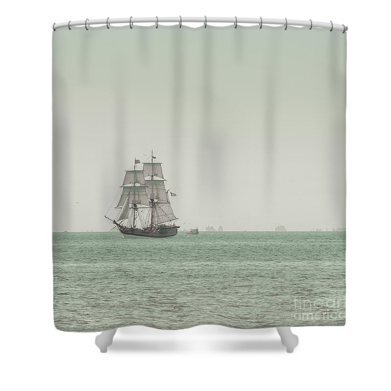 Art Shower Curtain featuring the photograph Sail Ship 1 by Lucid Mood