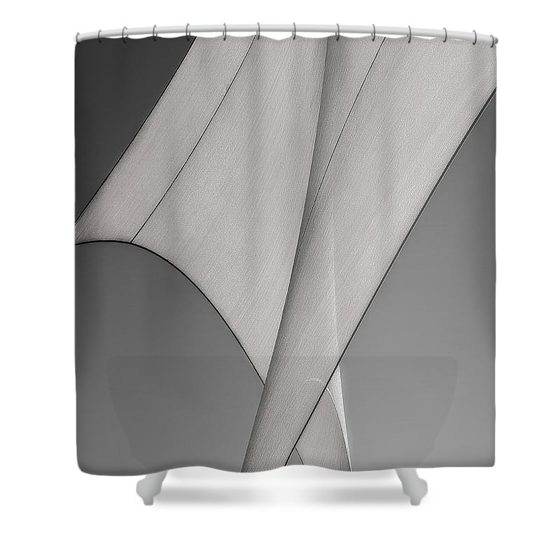 Abstract Shower Curtain featuring the photograph Sailcloth Abstract Number 3 by Bob Orsillo
