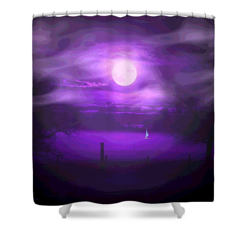 Moon Shower Curtain featuring the photograph Sailing In The Moonlight by Joyce Dickens