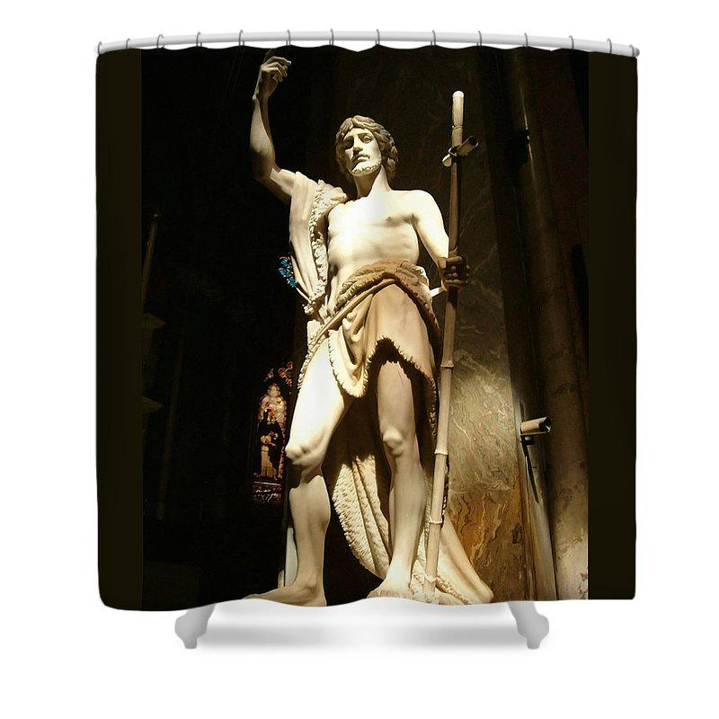 Saint John The Baptist Shower Curtain featuring the photograph Saint John The Baptist by Ellen Henneke