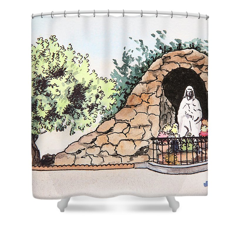 Sketch Shower Curtain featuring the painting Saint Rosa by Masha Batkova