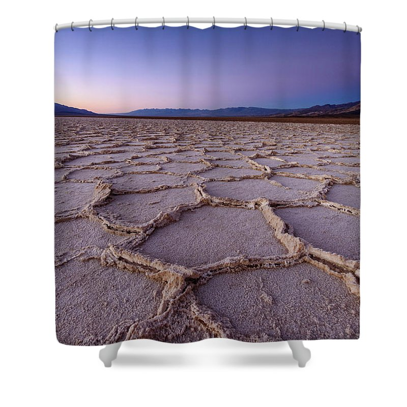 Scenics Shower Curtain featuring the photograph Salt Flat Basin by Piriya Photography