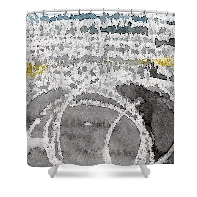 Water Shower Curtain featuring the painting Saltwater- Abstract Painting by Linda Woods