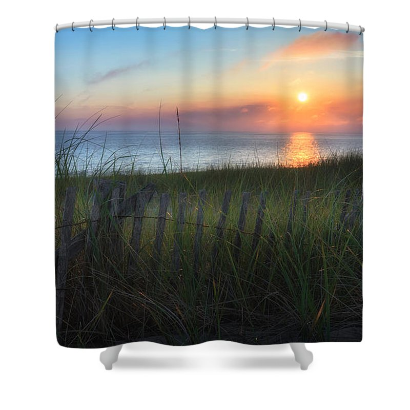 Cape Cod Seascape Shower Curtain featuring the photograph Salty Air by Bill Wakeley