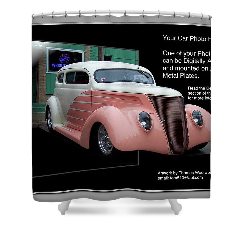 Out Of Bounds Shower Curtain featuring the photograph Sample Car Artwork Readme by Thomas Woolworth