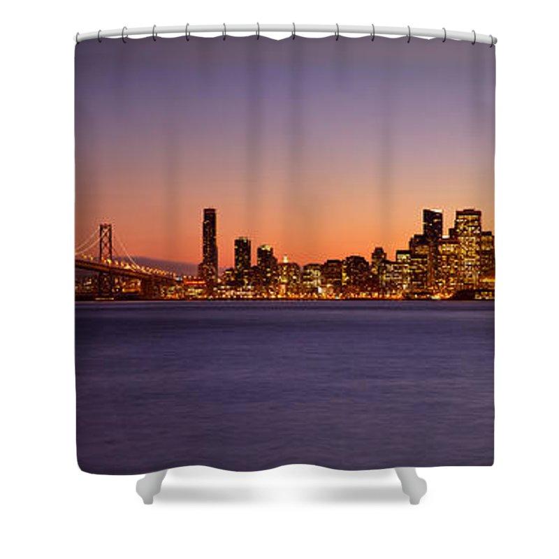 San Francisco Shower Curtain featuring the photograph San Francisco Skyline by Brian Jannsen