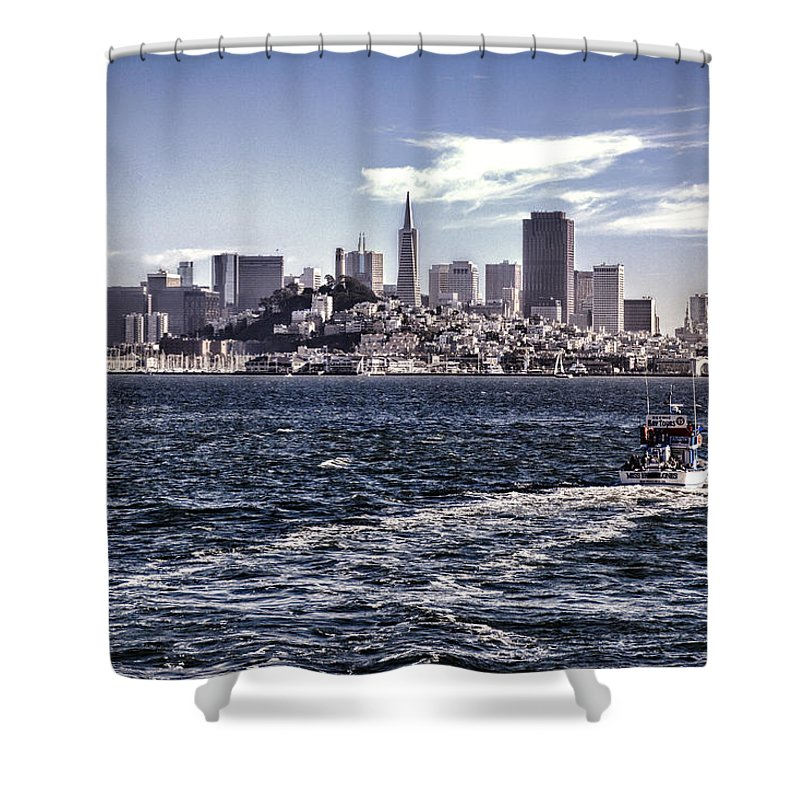 San Francisco Shower Curtain featuring the photograph San Francisco Skyline by Diana Powell