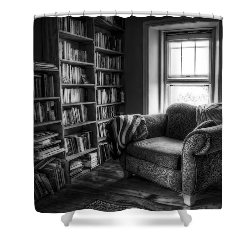 Library Photographs Shower Curtains