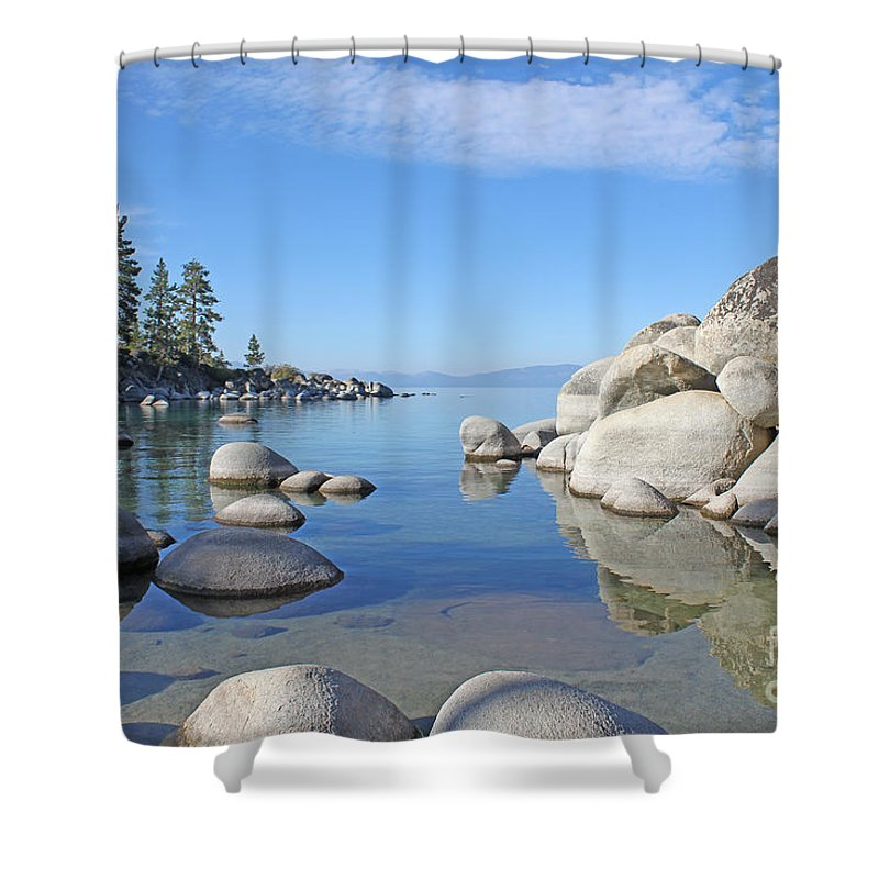 Lake Tahoe Shower Curtain featuring the photograph Sand Harbor-lake Tahoe by Jack Schultz