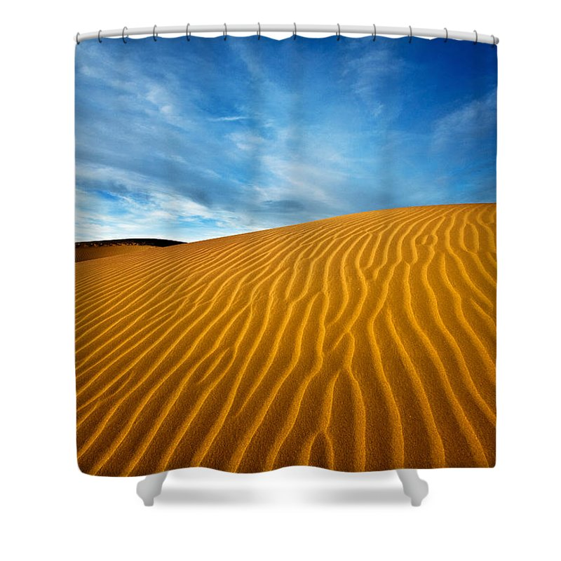 Death Valley Shower Curtain featuring the photograph Sands Of Time by Darren White