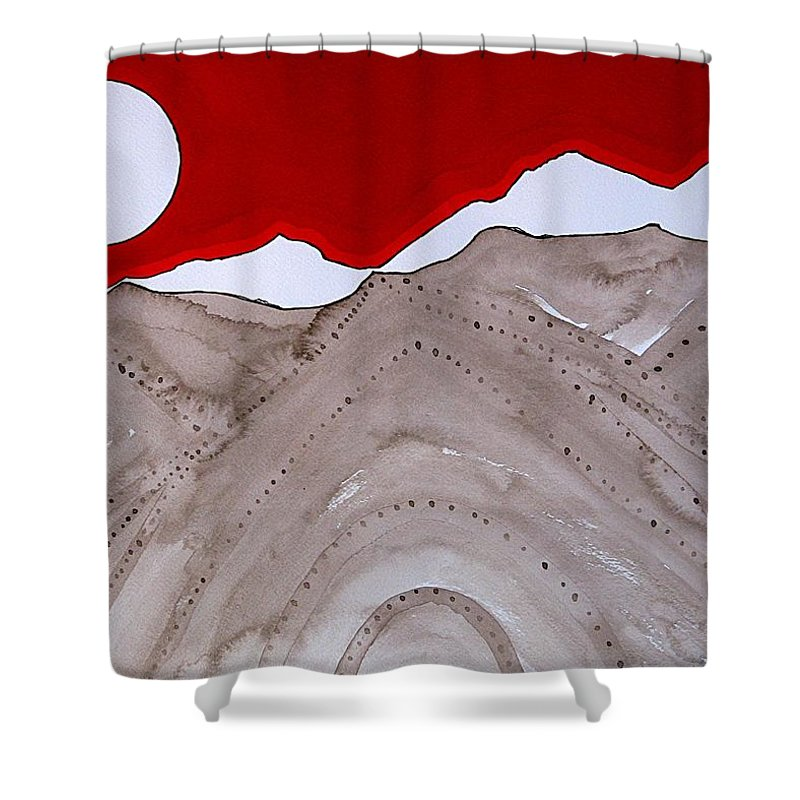 Rockies Shower Curtain featuring the painting Sangre De Cristo Peaks Original Painting by Sol Luckman