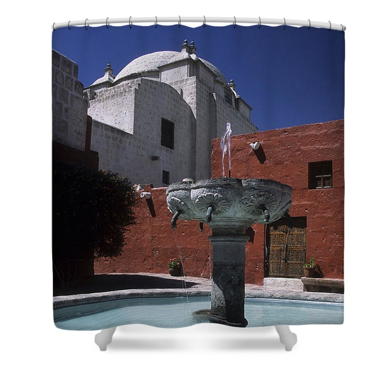 Peru Shower Curtain featuring the photograph Santa Catalina Convent by James Brunker