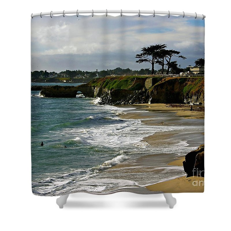 Santa Cruz Shower Curtain featuring the photograph Santa Cruz Beach by Carol Groenen