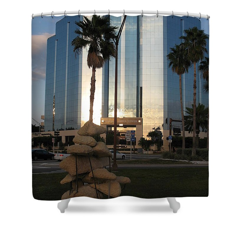 Art Shower Curtain featuring the photograph Sarasota Waterfront - Art 2010 by Christiane Schulze Art And Photography
