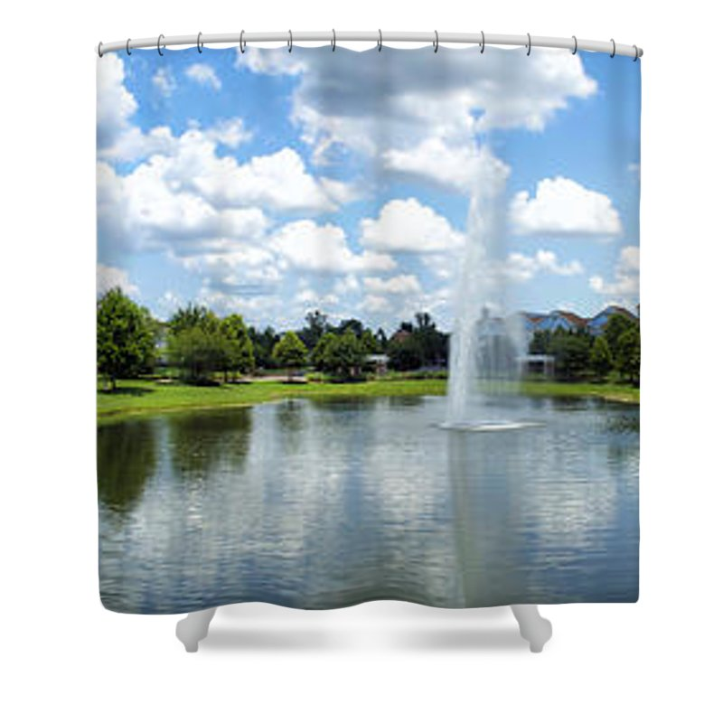 Saratoga Springs Resort Shower Curtain featuring the photograph Saratoga Springs Resort Walt Disney World by Thomas Woolworth