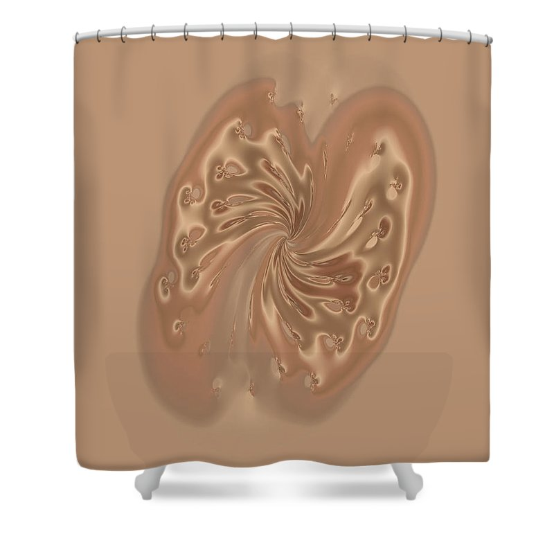 Fractal Shower Curtain featuring the digital art Satin Butterfly by Judi Suni Hall